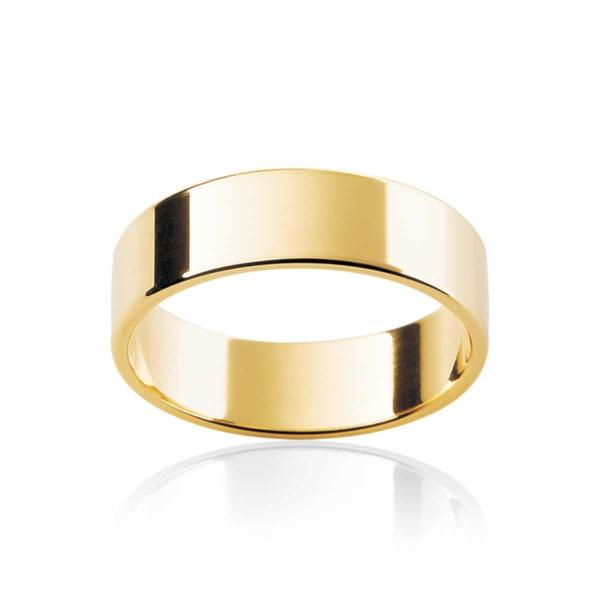 Mens Classic Yellow Gold Wedding Ring|Neo