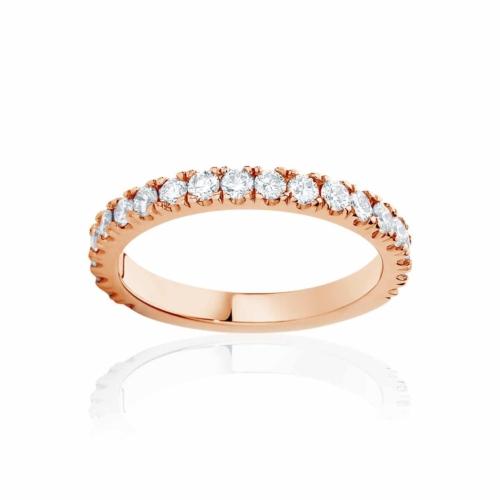 Womens Rose Gold Wedding Ring|Novo
