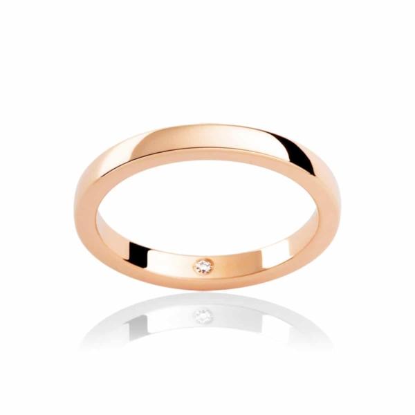 Womens Classic Rose Gold Wedding Ring|Odessa