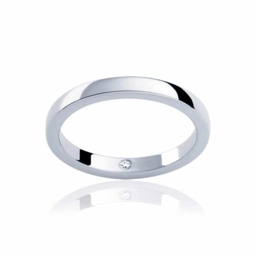 Womens Classic White Gold Wedding Ring|Odessa