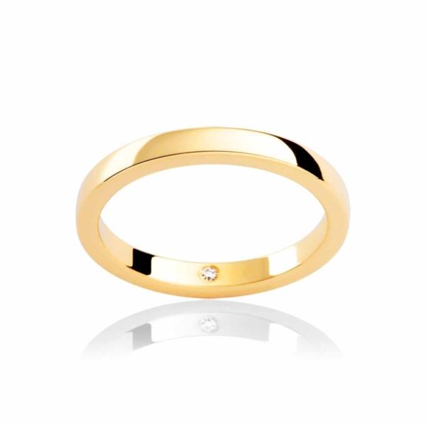 Womens Classic Yellow Gold Wedding Ring|Odessa