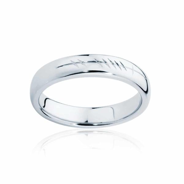 Mens Platinum Wedding Ring|Ogham