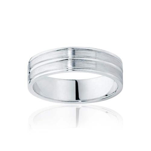Mens Two Tone White Gold Wedding Ring Oslo