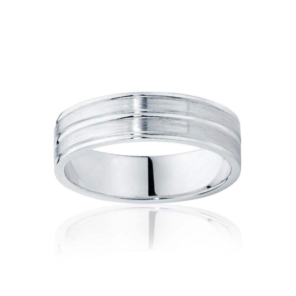 Mens Two Tone White Gold Wedding Ring|Oslo