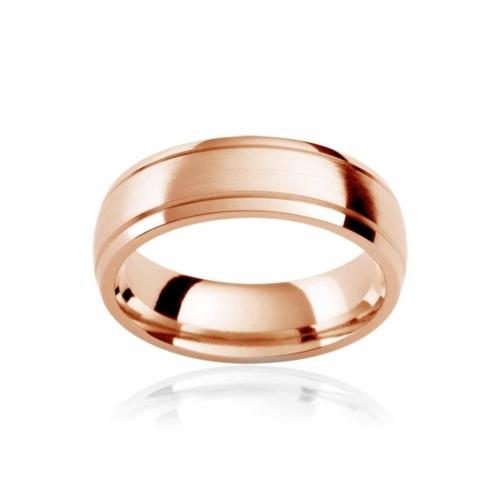 Mens Rose Gold Wedding Ring|Regis