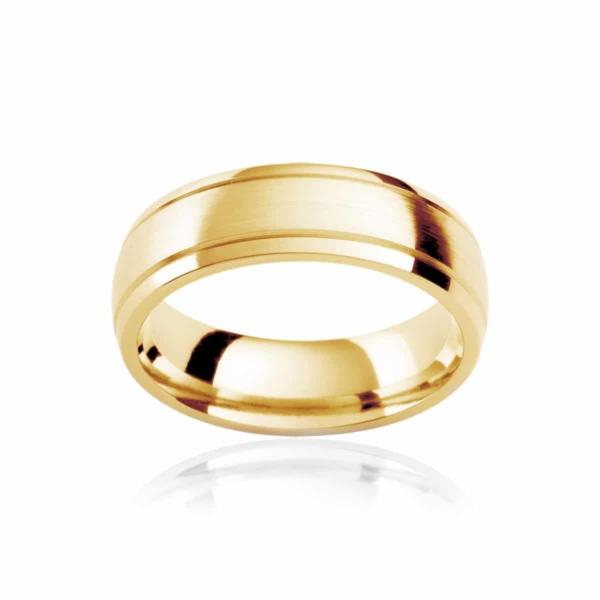 Mens Yellow Gold Wedding Ring Regis