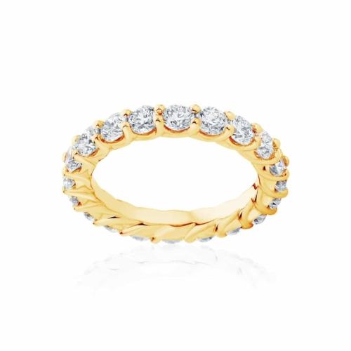 Womens Yellow Gold Wedding Ring Ripples