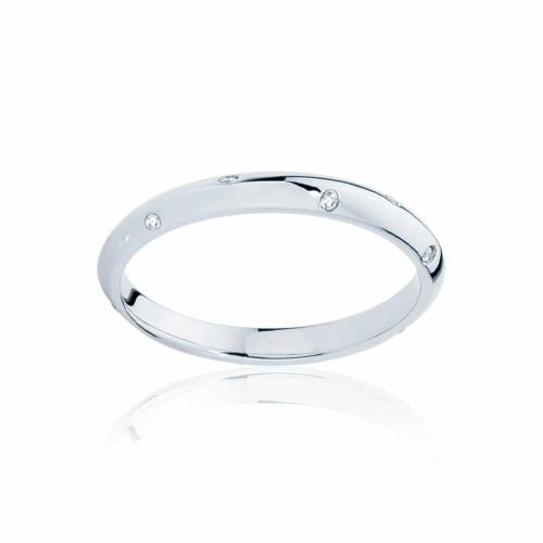 Womens White Gold Wedding Ring Seville