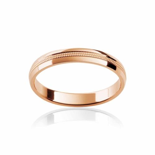 Womens Classic Rose Gold Wedding Ring|Sonoma