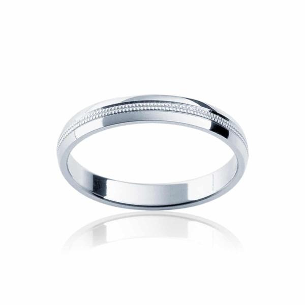 Womens Classic White Gold Wedding Ring|Sonoma