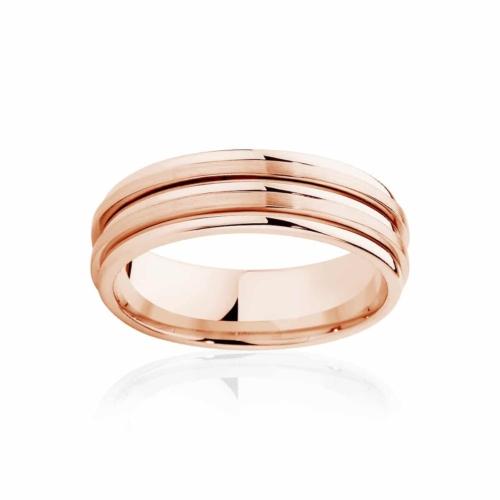 Mens Rose Gold Wedding Ring|Stamford