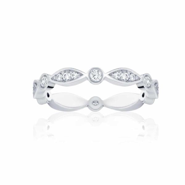 Womens Vintage Platinum Wedding Ring|Stella Brilliant