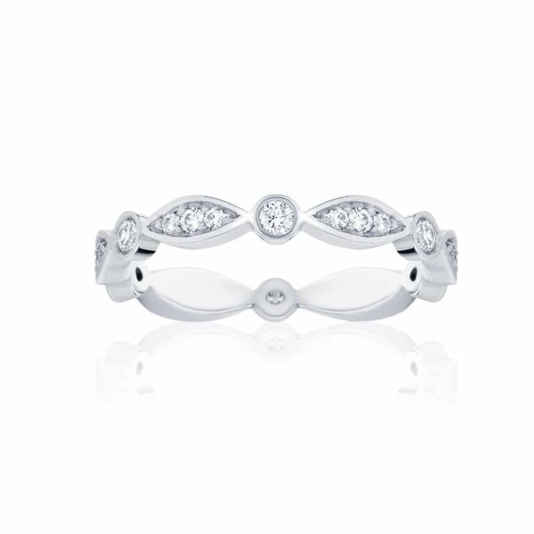 Womens Vintage White Gold Wedding Ring|Stella Brilliant