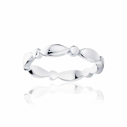 Womens Classic Platinum Wedding Ring Stella Dome