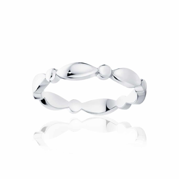 Womens Classic White Gold Wedding Ring|Stella Dome
