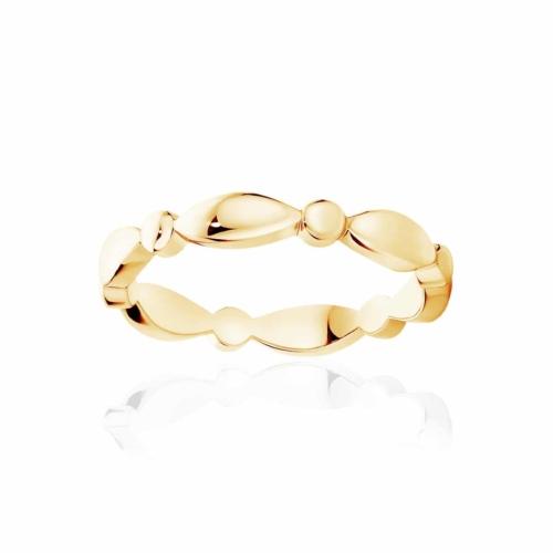 Womens Classic Yellow Gold Wedding Ring|Stella Dome