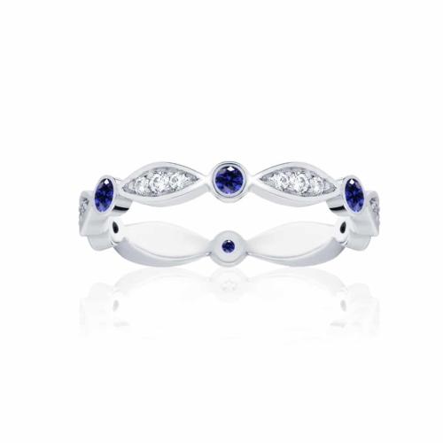 Womens Vintage White Gold Wedding Ring Stella Sapphire