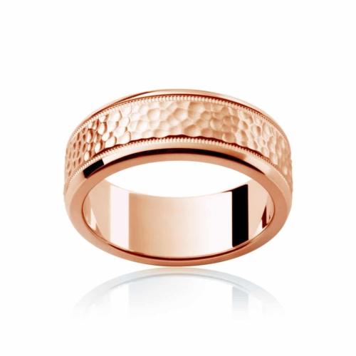 Mens Rose Gold Wedding Ring Terrain
