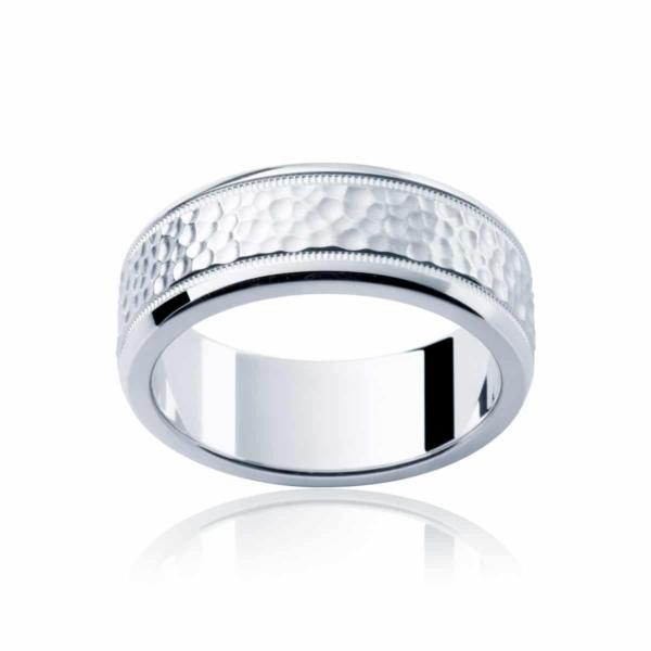 Mens White Gold Wedding Ring|Terrain