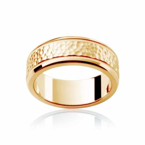 Mens Yellow Gold Wedding Ring|Terrain