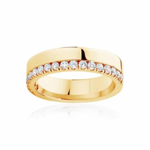 Womens Yellow Gold Wedding Ring|Thea