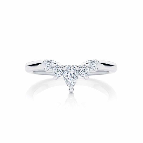 Womens Contoured Platinum Wedding Ring|Tiara