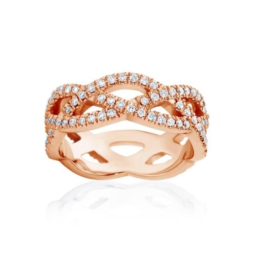 Womens Rose Gold Wedding Ring|Trinity