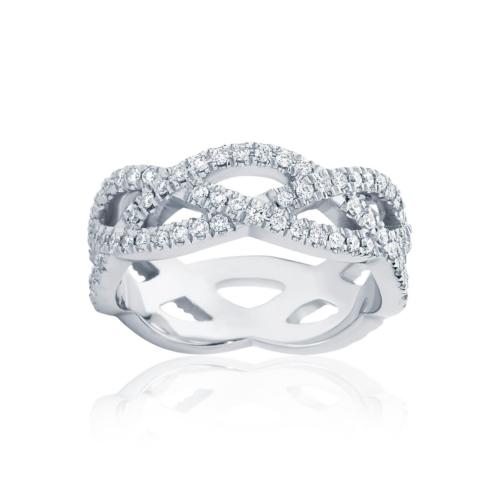 Womens White Gold Wedding Ring Trinity