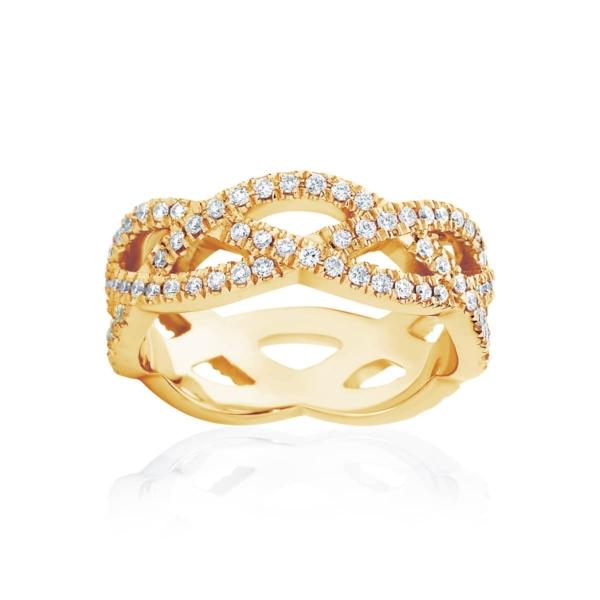 Womens Yellow Gold Wedding Ring|Trinity