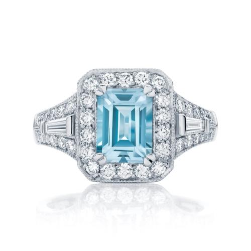 Emerald Halo Dress Ring Platinum   Andromeda