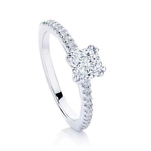 Cushion Cut Diamond Engagement Ring Platinum   Aurelia (Cushion)