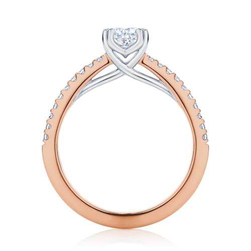 Cushion Cut Diamond Engagement Ring Rose Gold | Aurelia (Cushion)