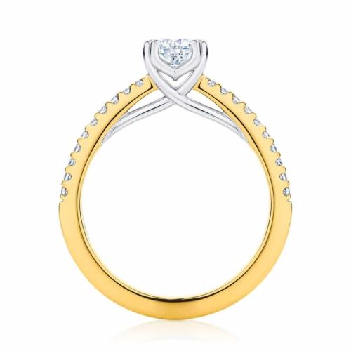Cushion Cut Diamond Engagement Ring Yellow Gold | Aurelia (Cushion)