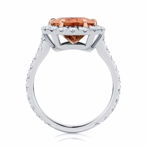 Pear Halo Dress Ring Platinum | Rosetta (Pear)
