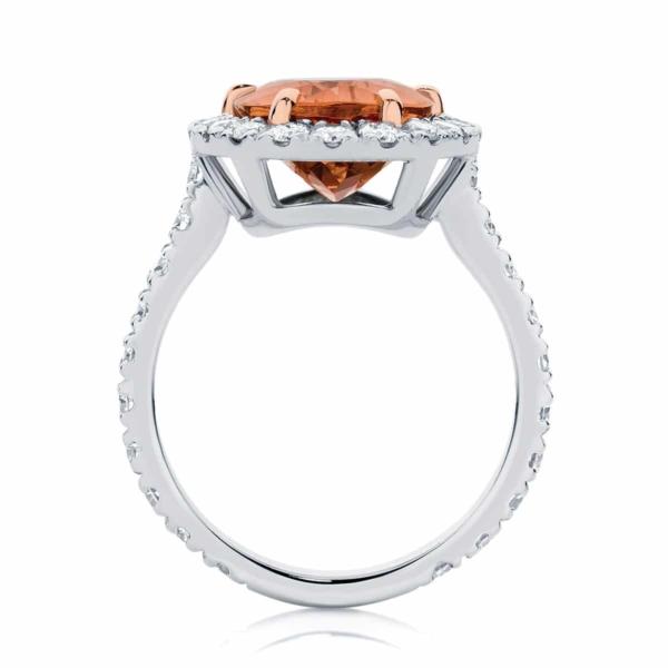 Pear Halo Dress Ring White Gold   Rosetta (Pear)