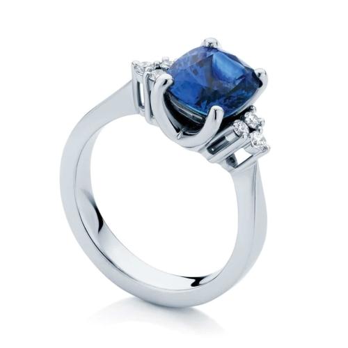 Cushion Other Dress Ring Platinum   Cobalt