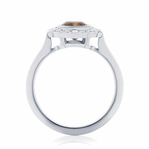 Cushion Halo Dress Ring White Gold | Messina