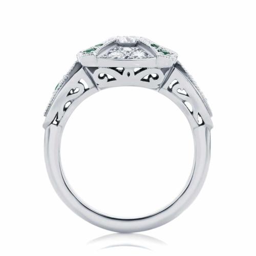 Round Other Dress Ring Platinum   Renaissance