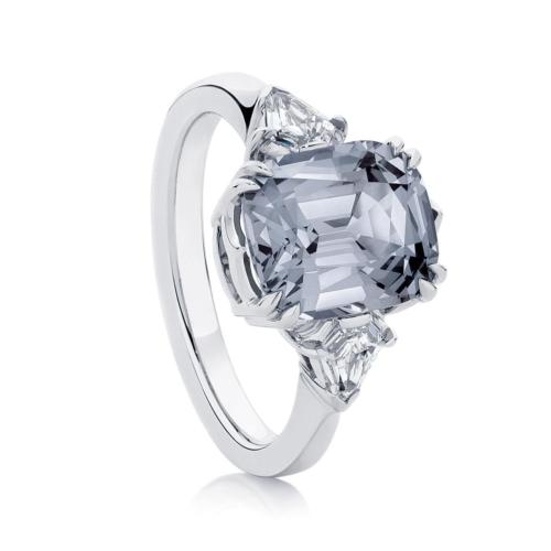 Cushion Spinel Dress Ring Platinum | Stardust