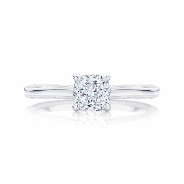 Cushion Cut Diamond Engagement Ring White Gold   Turin
