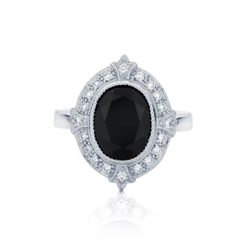 Oval Halo Dress Ring Platinum   Venezia